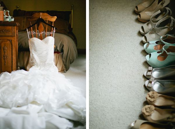 Lake Tahoe Wedding Dress and Shoes