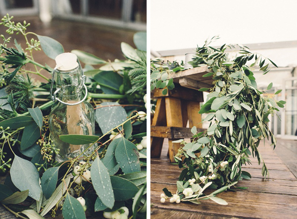 Lake tahoe wedding inspiration olive branch garlands