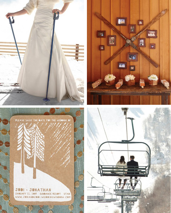 ski theme wedding