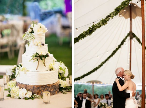 white green wedding cake