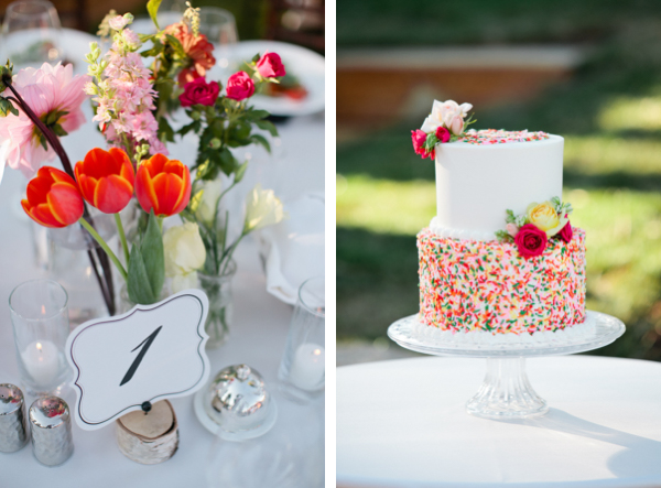 colorful sprinkles wedding cake