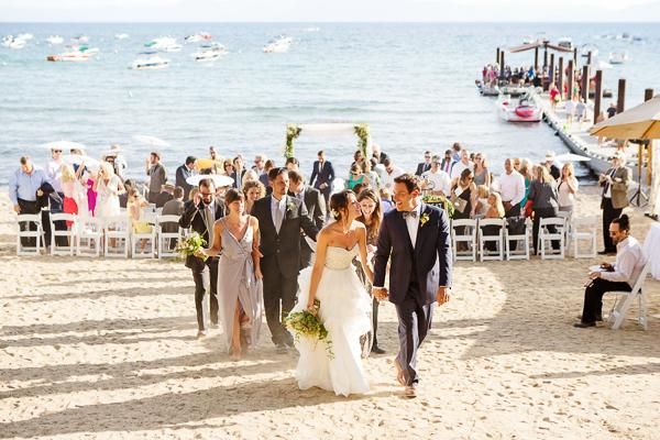 Elegant Hyatt Lake Tahoe Summer Wedding Real