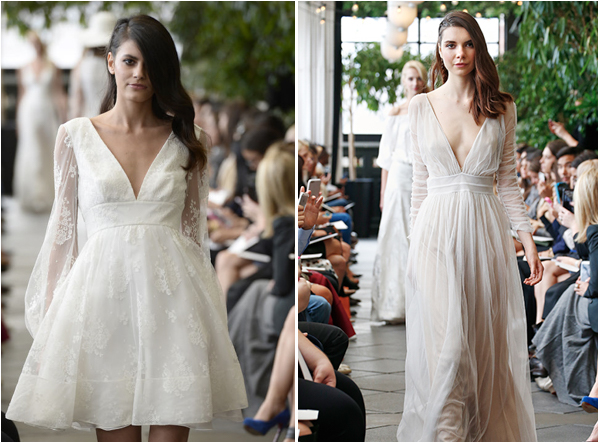 Delphine Manivet Deep V Wedding Dress