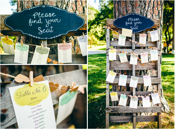 indie escort card ideas