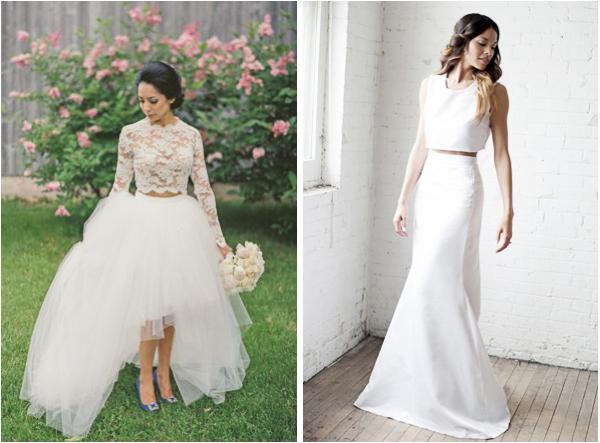 Two Piece Wedding Dresses 2