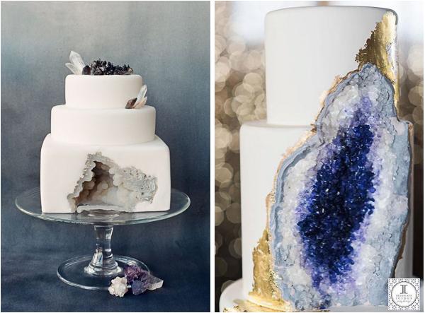Nature Inspired Geode Wedding Cakes Lake Tahoe Inspiration - Geode Wedding Cake