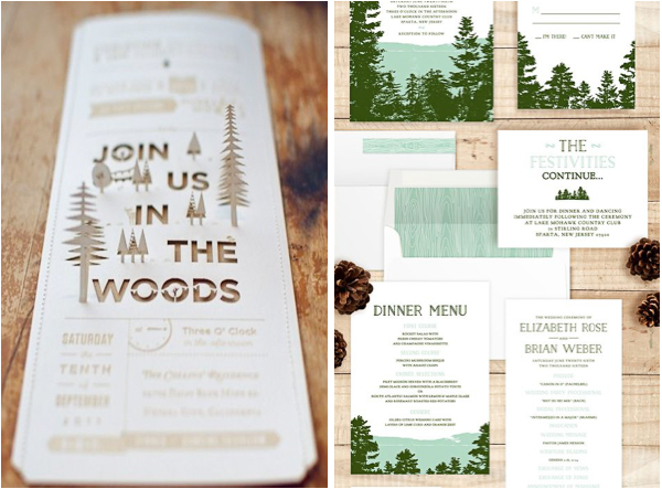Lake Themed Wedding Invitations: Lake Tahoe Mountain Inspired Wedding Invitations