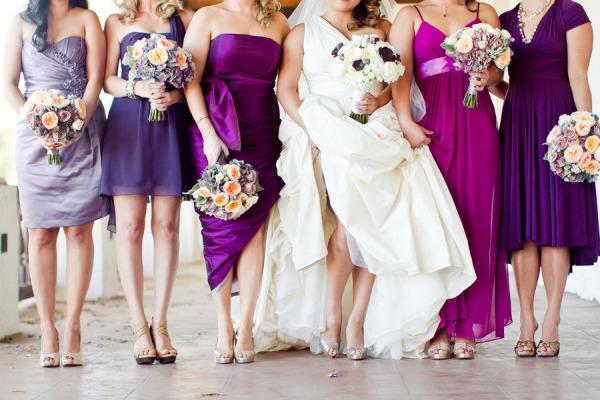 Jewel Toned Dresses Bridesmaids
