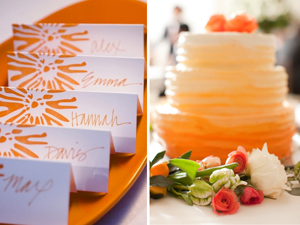 Mango Wedding Inspiration with Tahoe Unveiled