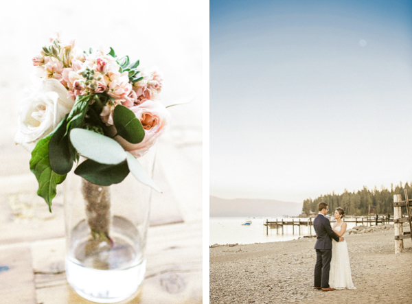 lakefront beach wedding