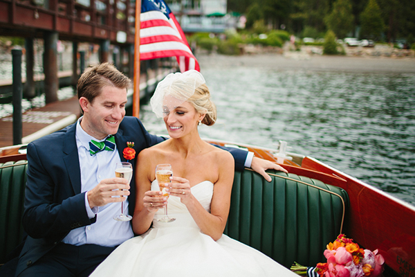 americana nautical lake tahoe wedding