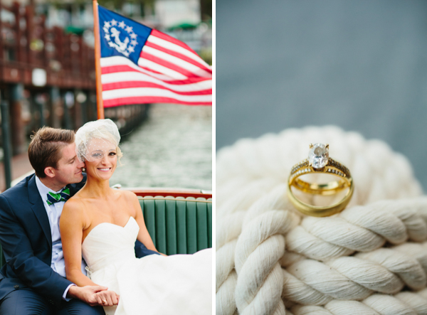 americana lakefront wedding