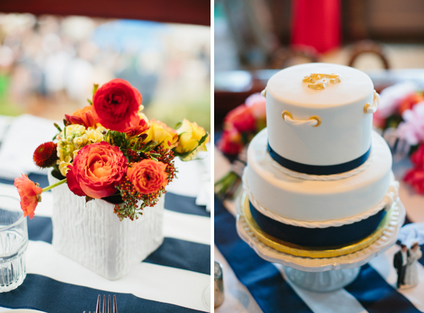 nautical stripe wedding 1
