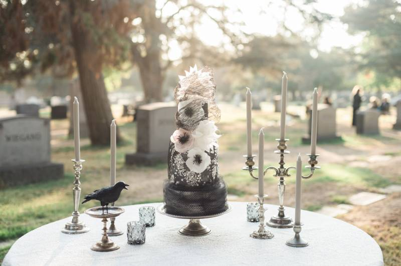 Dark Halloween Wedding Inspiration
