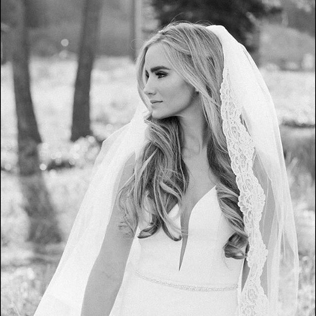 Beautiful Hair and Veil