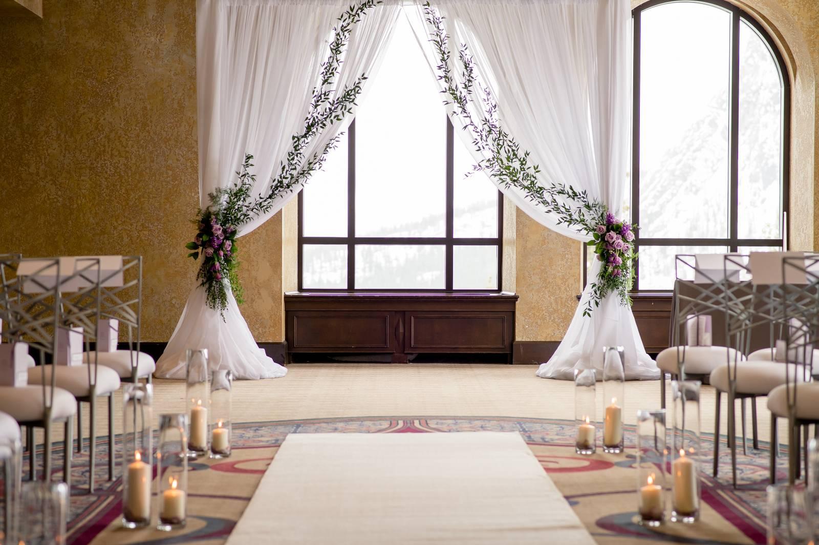 Three Jaw Dropping Indoor Banff Wedding Ceremonies
