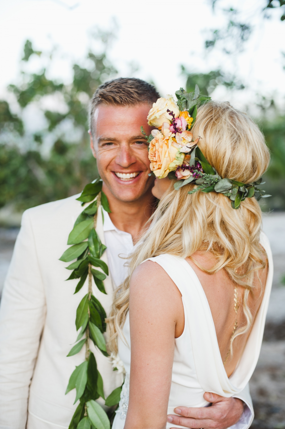 Bohemian Hawaii Beach Wedding