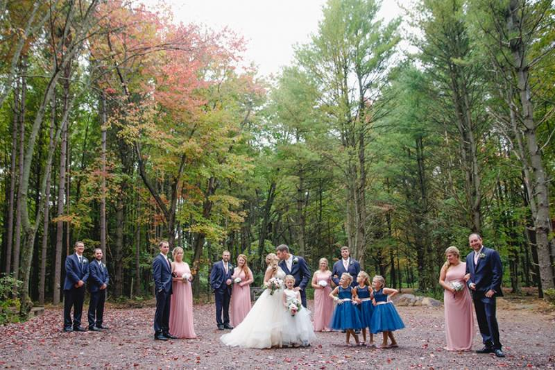 Real Woodland Weddings: Charming Autumn Woodland Wedding At The Swan Barn Door