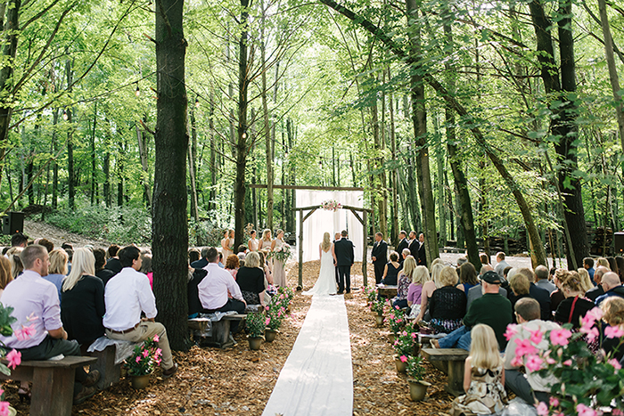 woods wedding, outdoor ceremony, nature wedding, ceremony arch, ceremony arbor