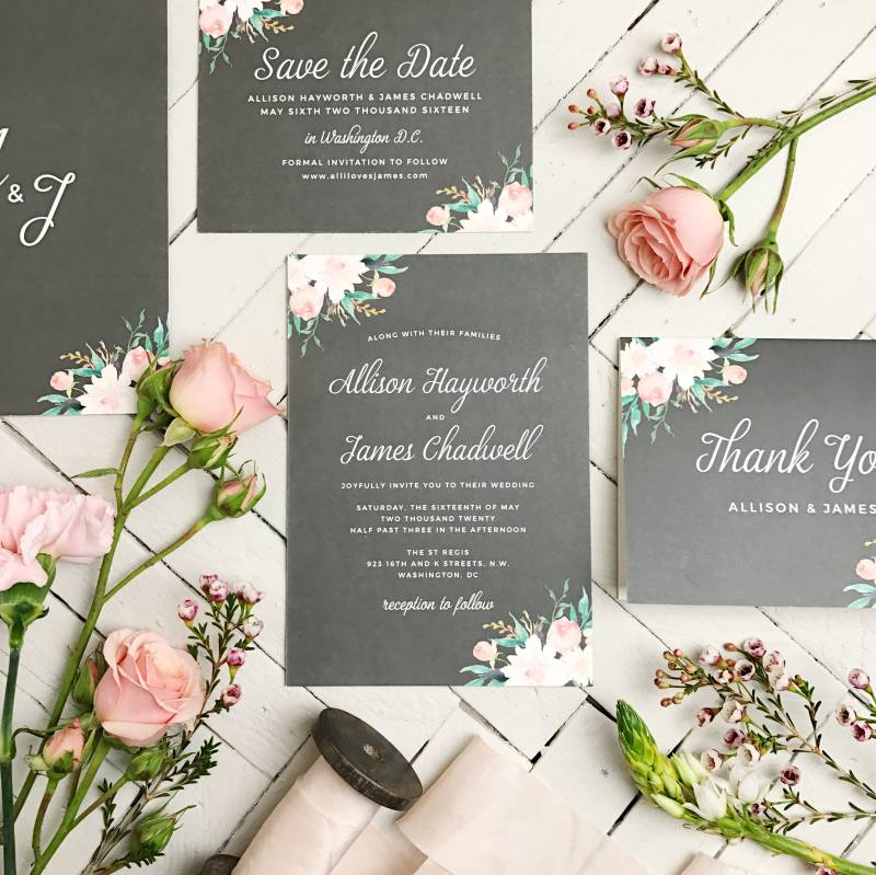 Vendor spotlightbeautiful wedding invitation suites from basic with more than 200 wedding invitation designs 180 custom colors 40 different color envelopes and 100 font choices they have all the pretty paper stopboris Choice Image