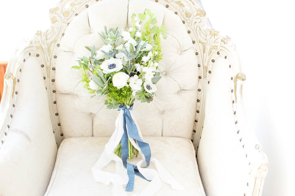 white wedding bridal bouquet