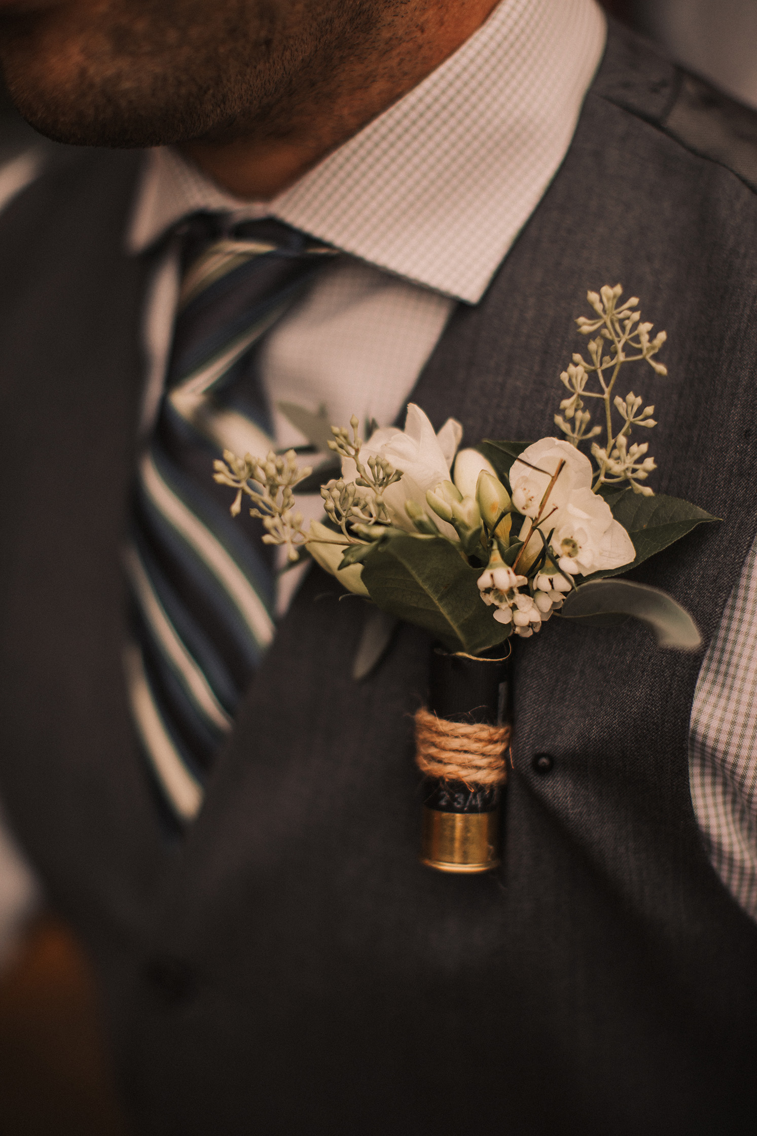 boutonniere, white flowers