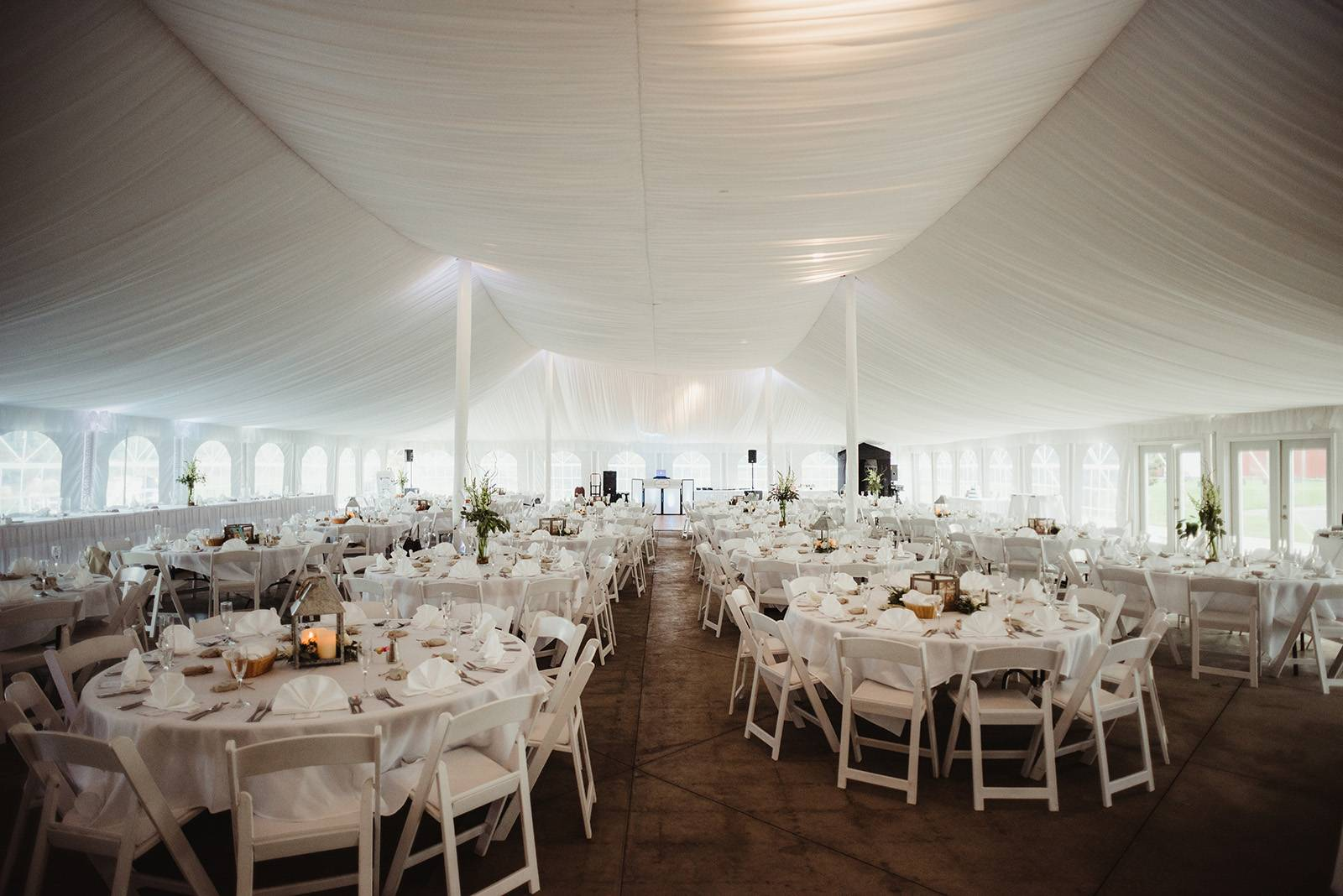 chula vista tented wedding reception