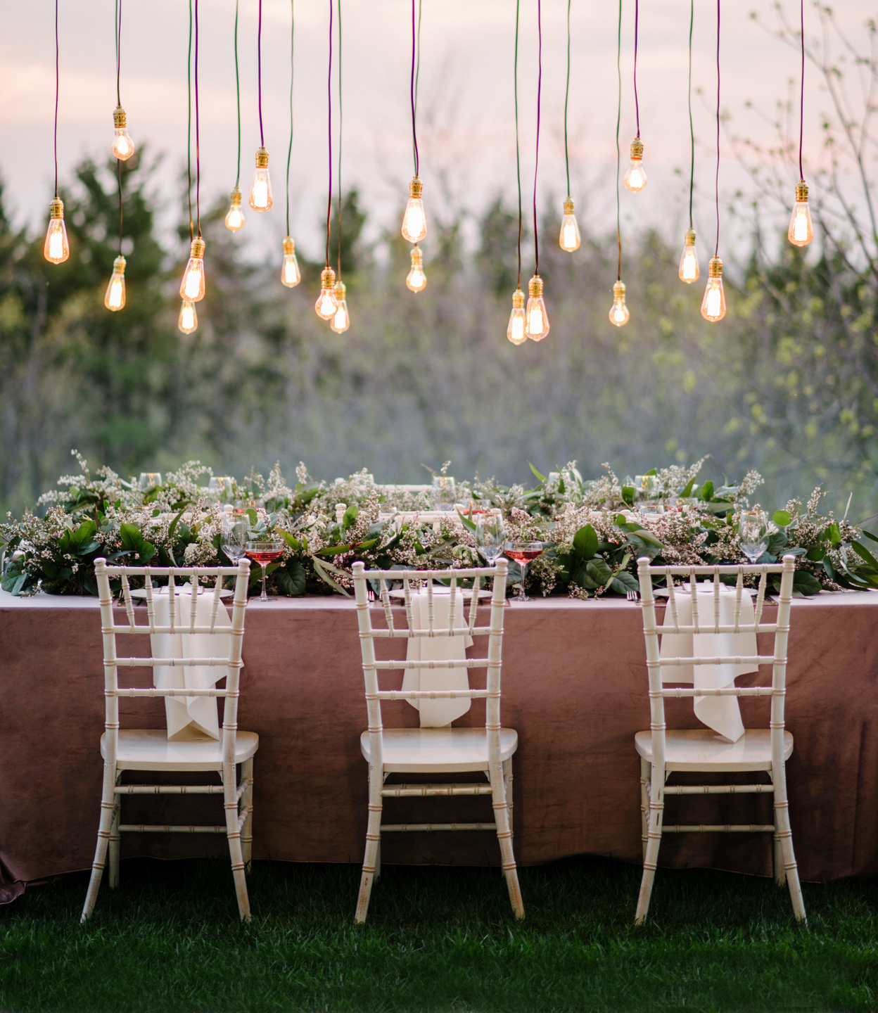 romantic garden wedding reception decor tablescape