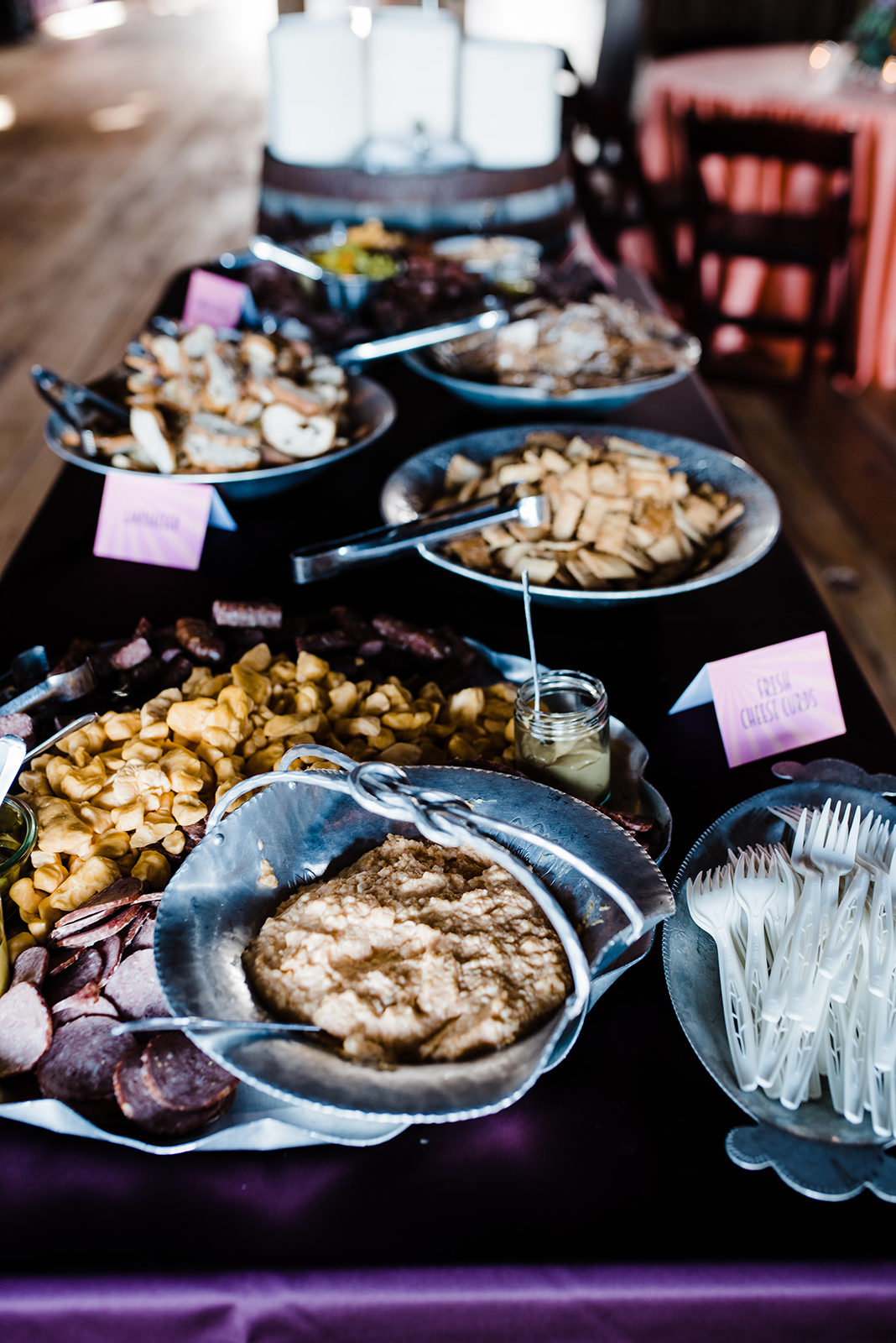 catering food spread table