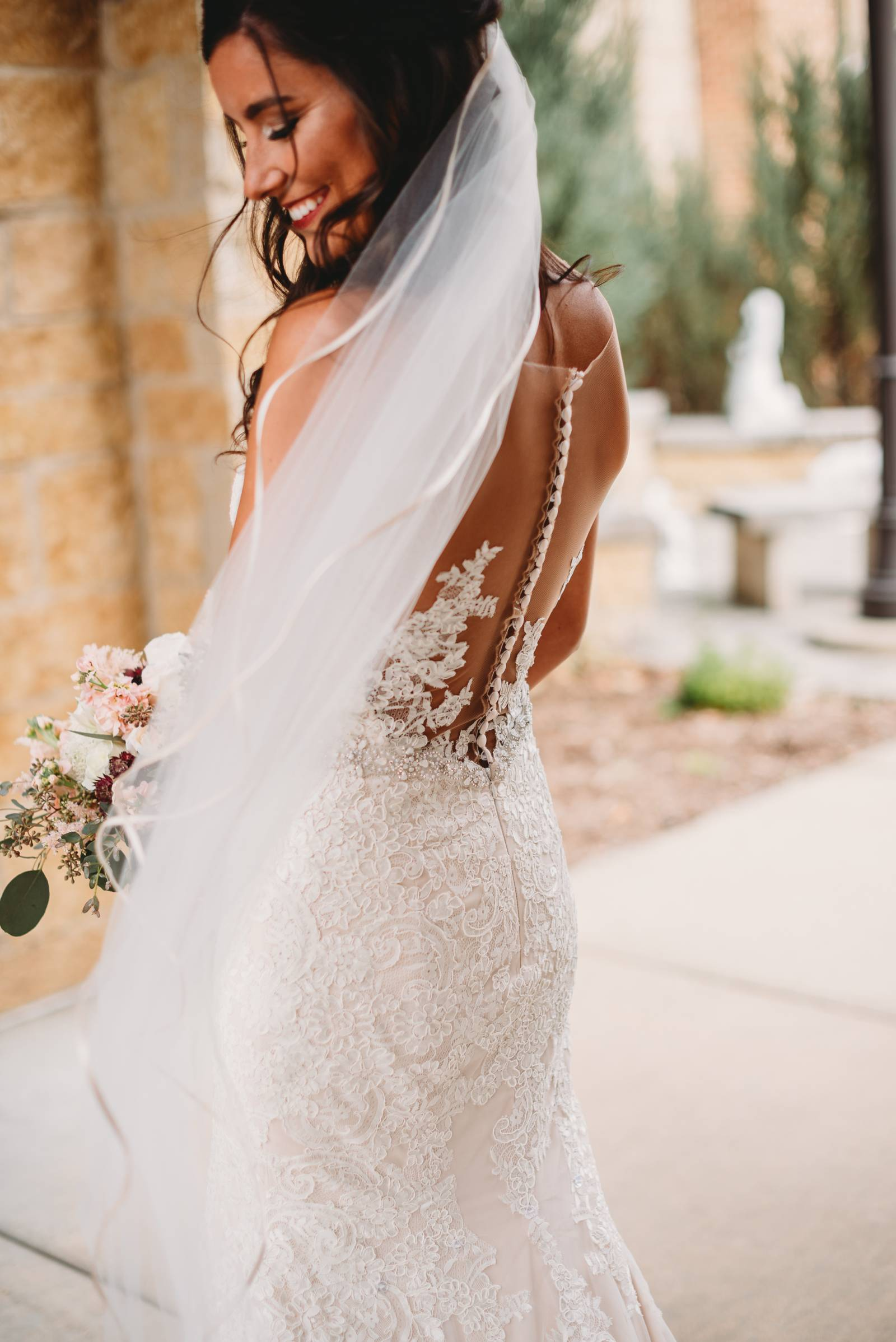 lace wedding gown dress
