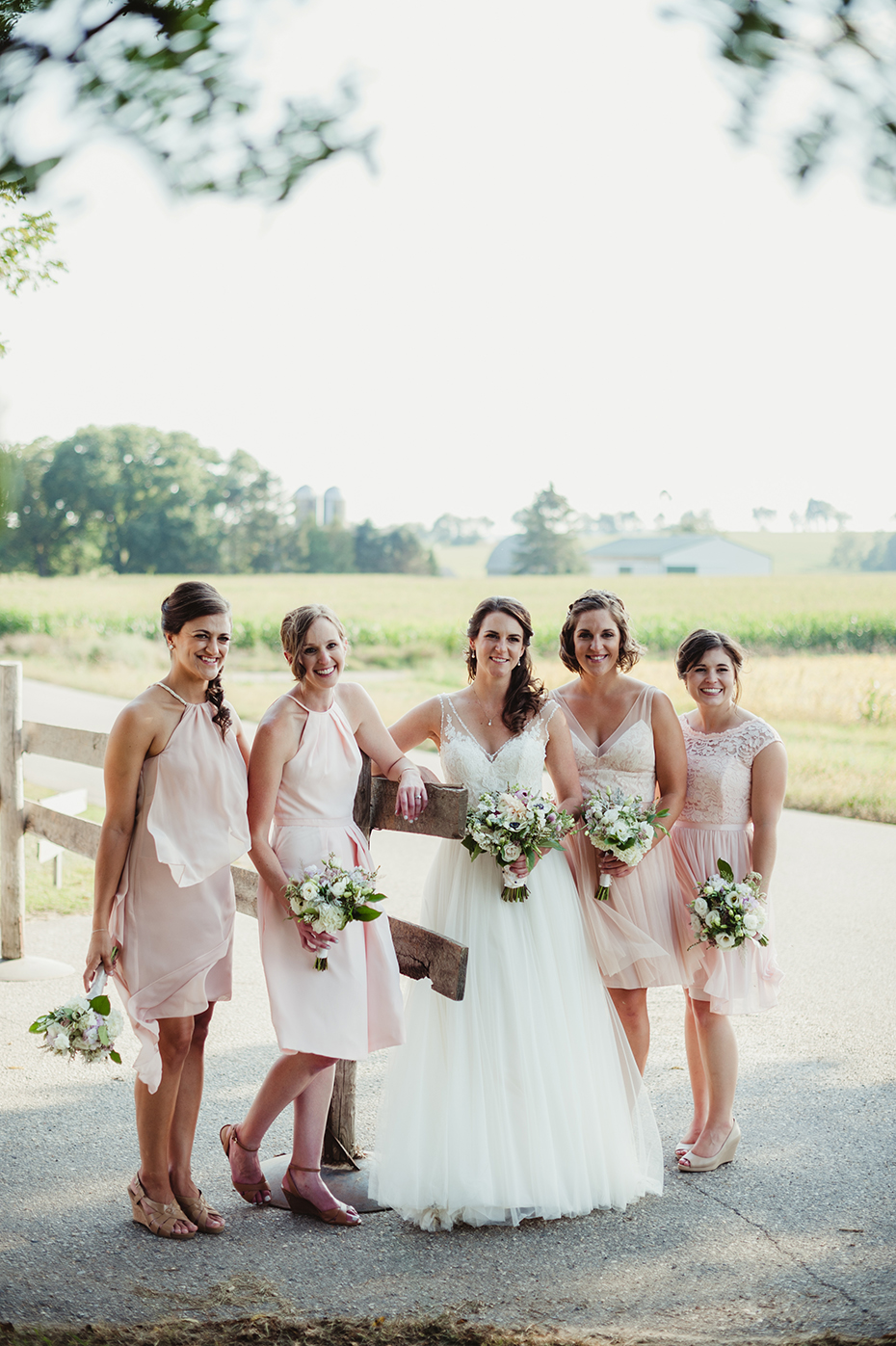 blush wedding bridesmaid dresses