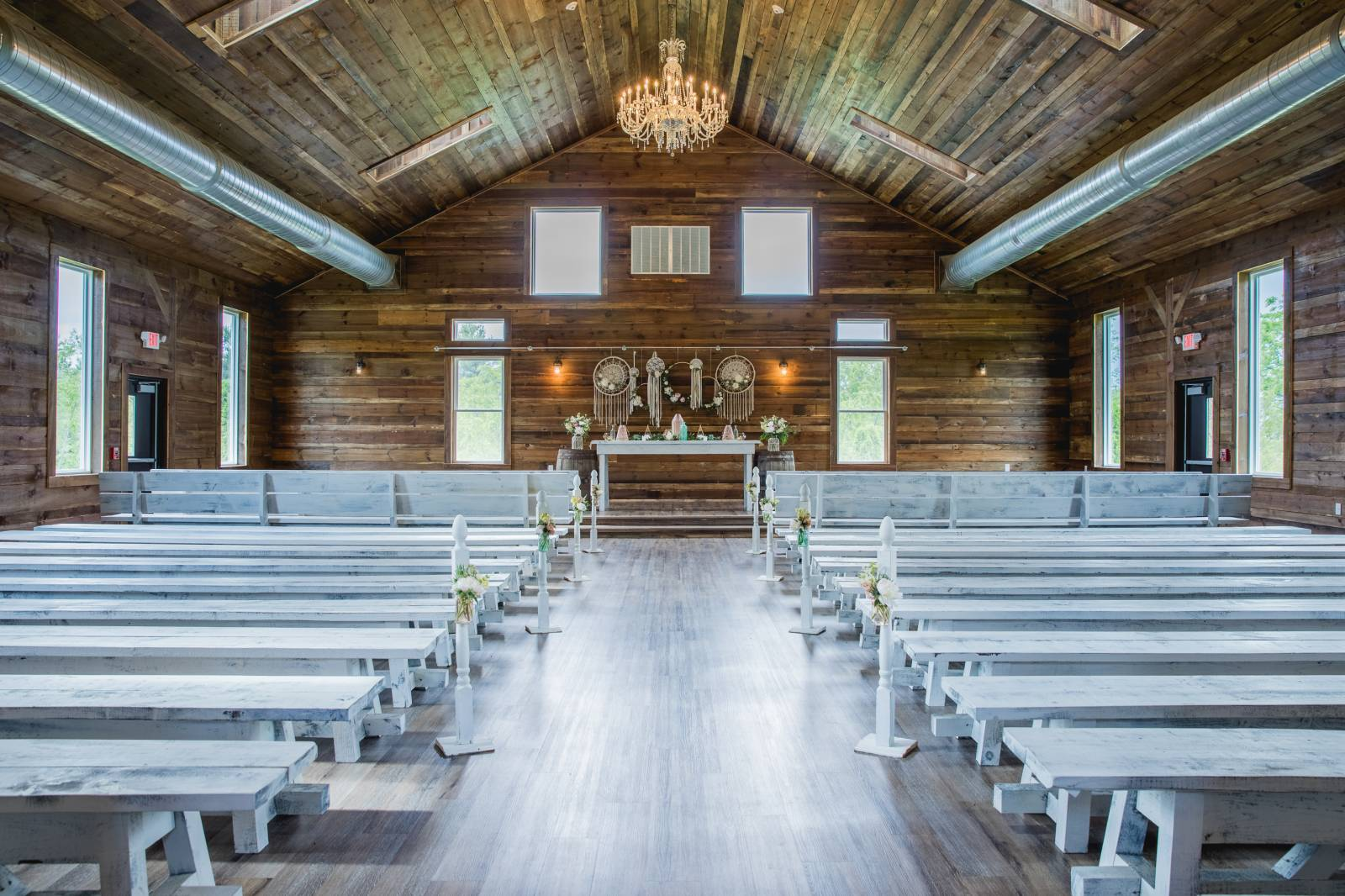 madison barn wedding ceremony