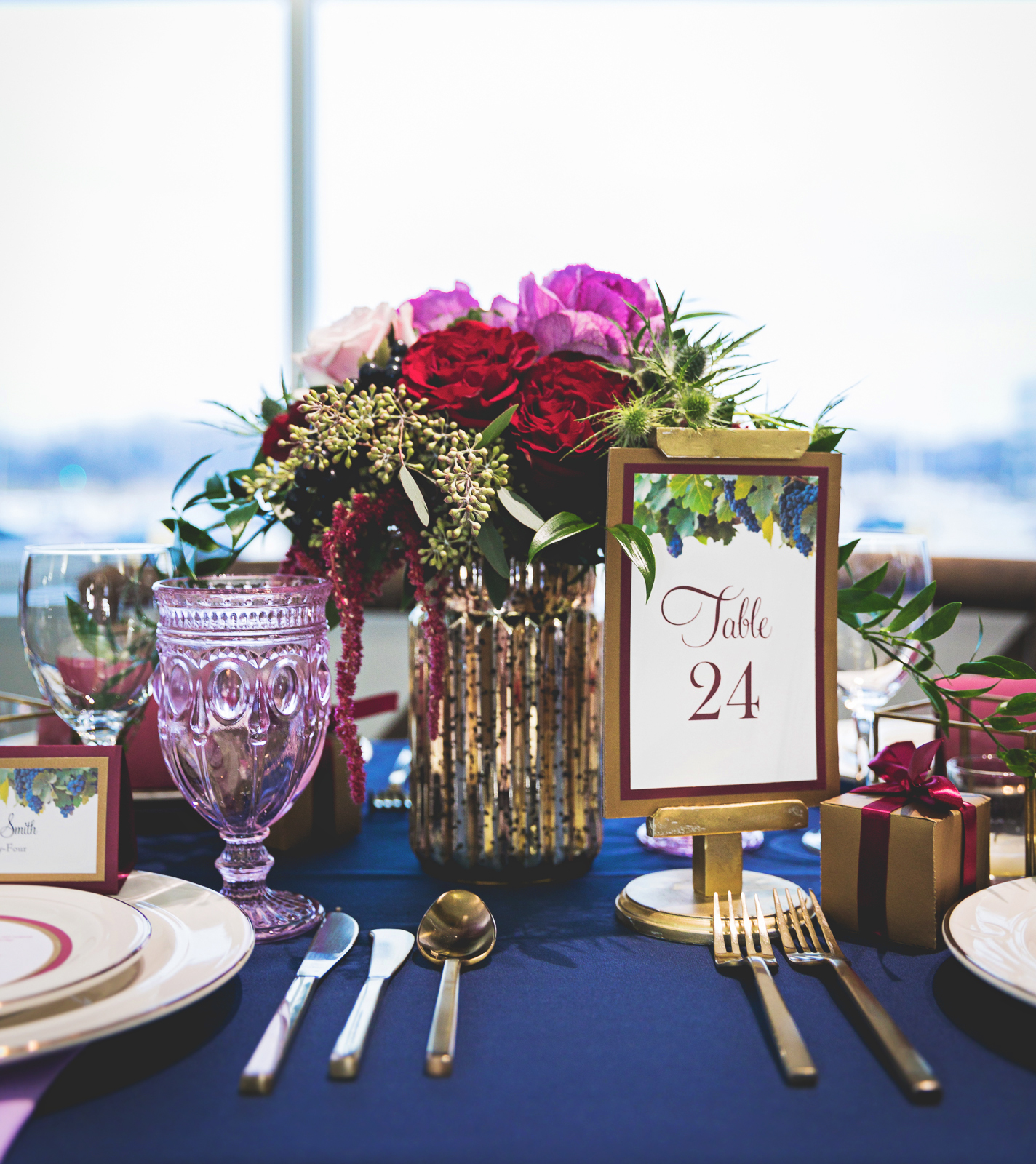 Marsala, amethyst, wedding inspiration, Madison, wine, wedding table, wedding decor, table number, e