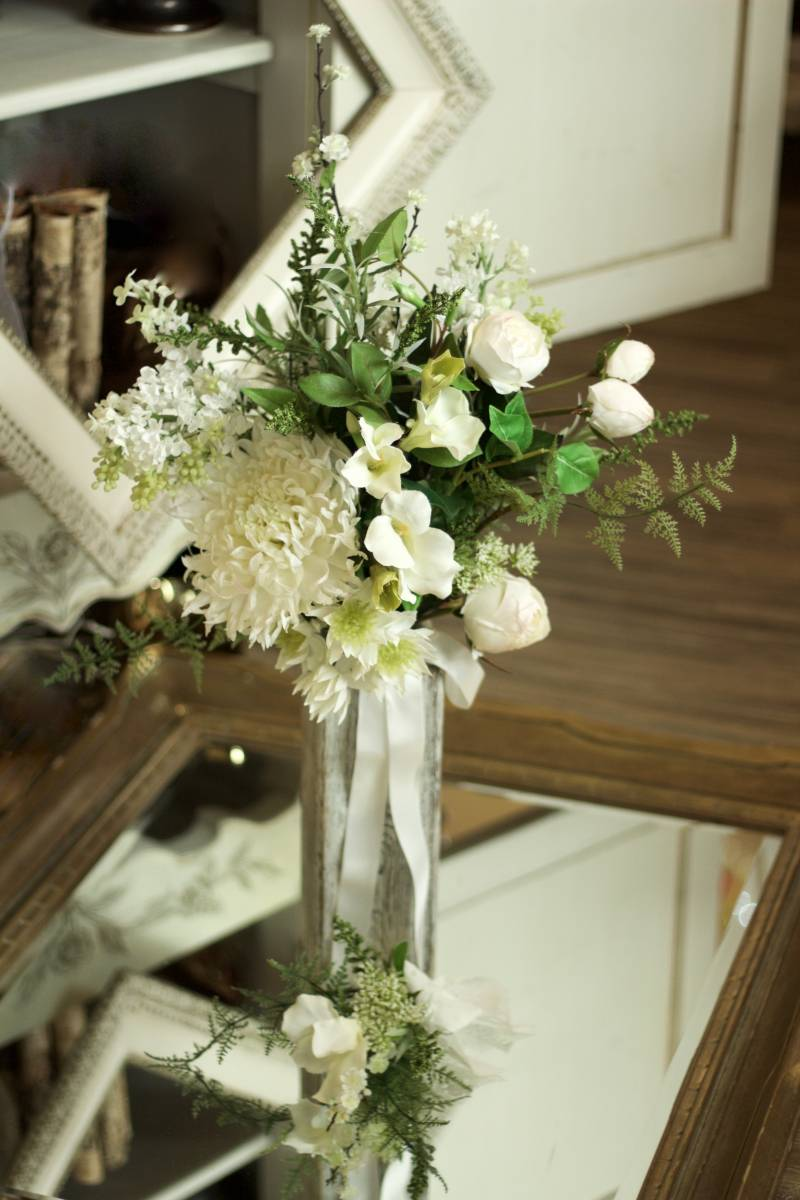 Green & White Wedding Bouquet | Canmore