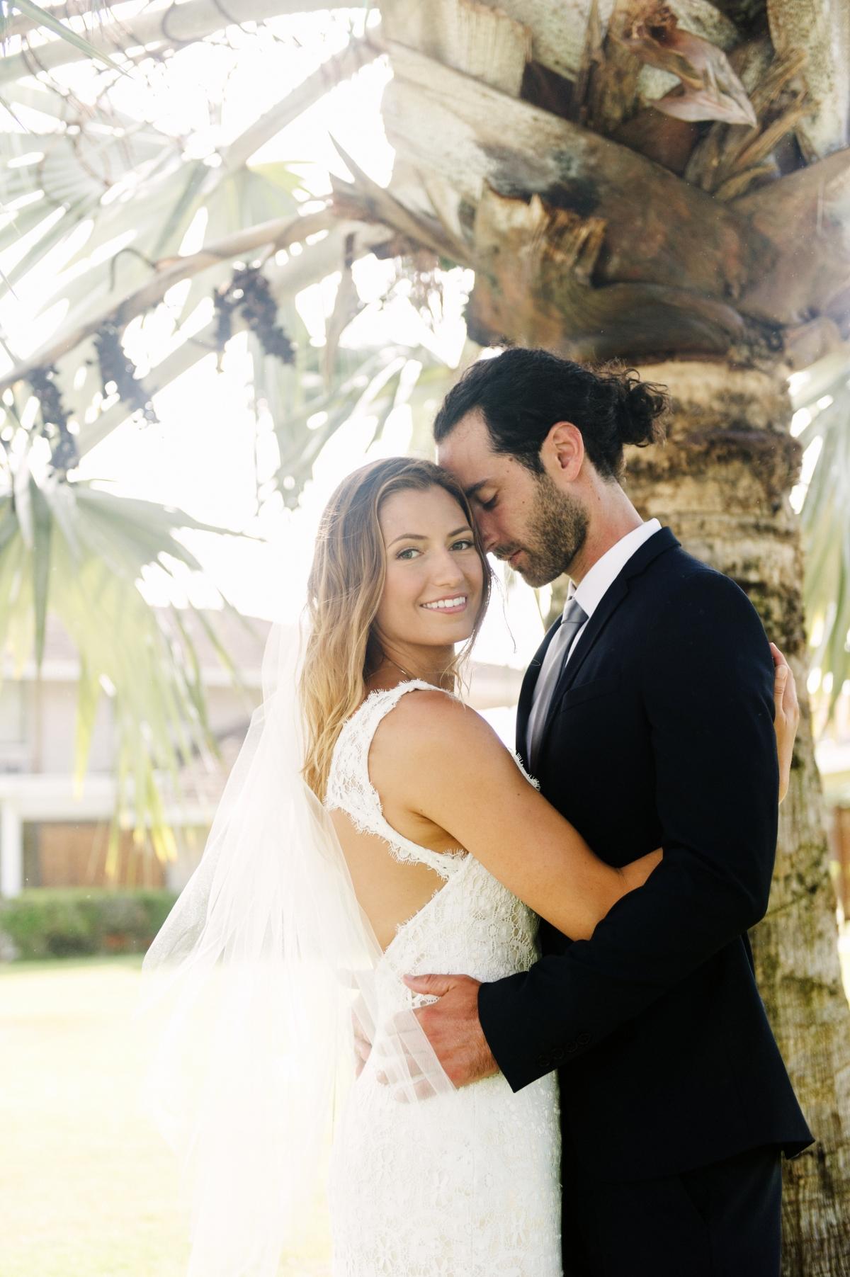 Simple Natural Hawaii Beach Wedding Maui