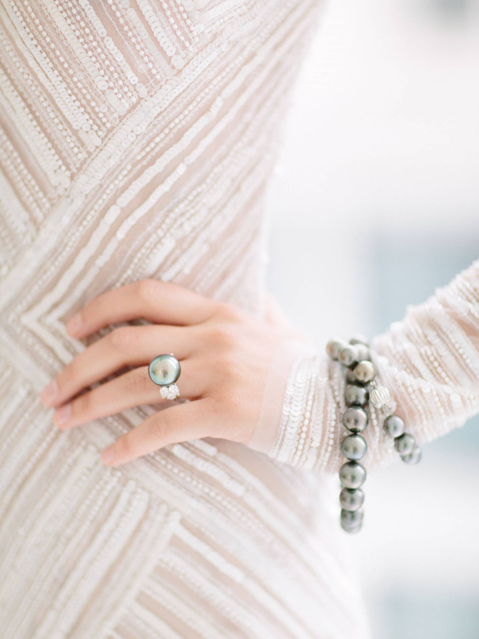 Elegant ring and bracelet by Campanelli  & Pear, from Jinwang