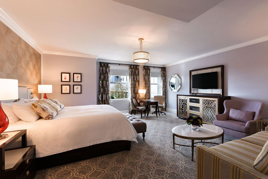 Guestroom suite at Claremont Club & Spa, a Fairmont Hotel