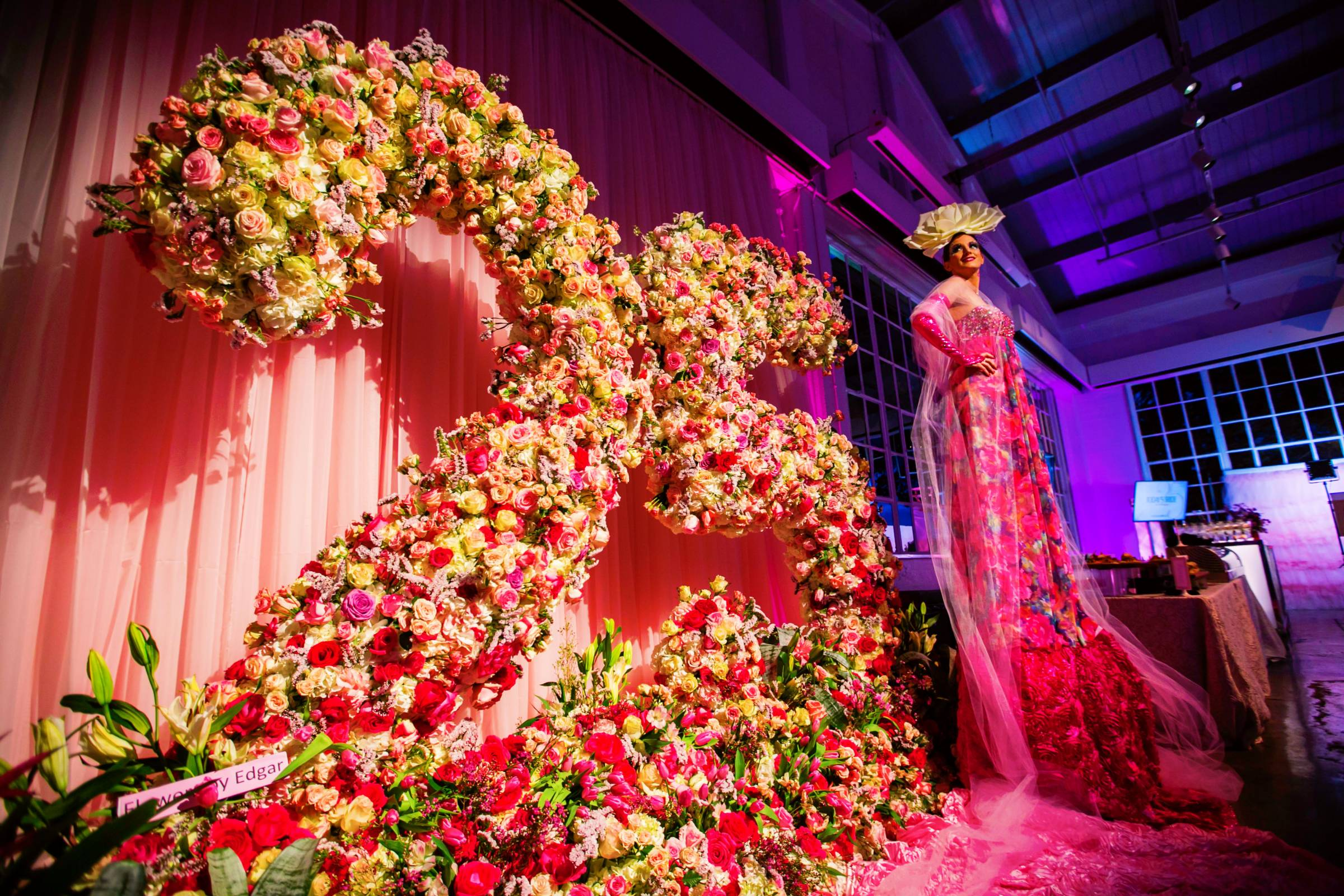 Giant number 25 floral display
