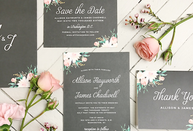 Using Muted Colors And Busier Flower Patterns Is The Best Way To Achieve A Floral Vintage Look Botanical Wedding Invitation Romantic