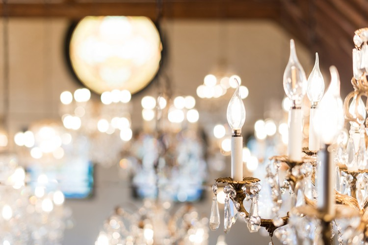 Classic style with chandeliers colorado style trends styled shoots originally a dairy farm built in 1910 the chandelier barn is now home to nearly 30 hand crafted chandeliers creating an unforgettable elegant space aloadofball Image collections