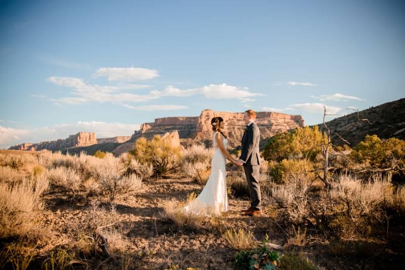 Desert Peach Wedding Styled Shoot In Grand Junction