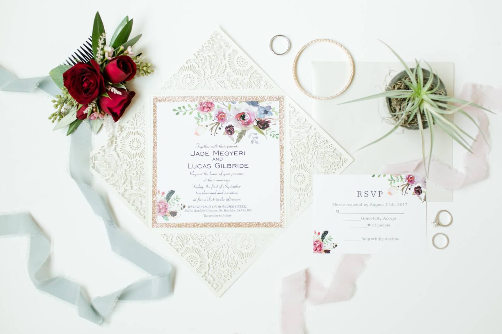 Boulder Wedding with Red Vintage Details | Boulder Real Wedding