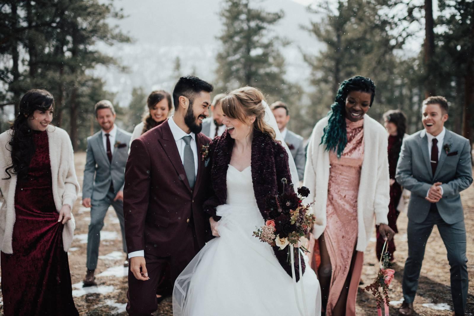 Real Weddings Winter: Winter Wedding In Estes Park