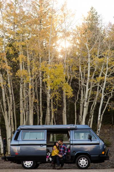 Colorado Engagement with a VW Bus