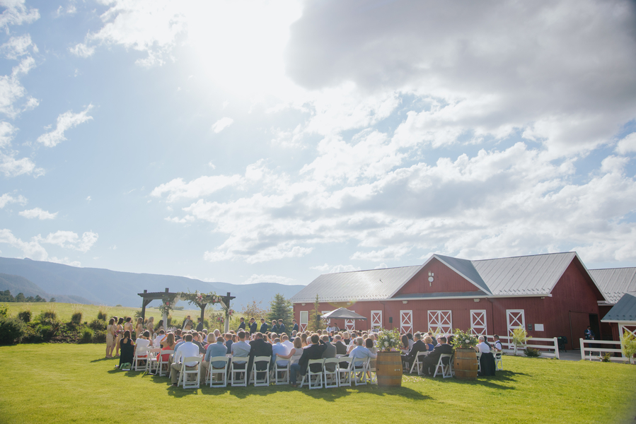 Barn wedding colorado