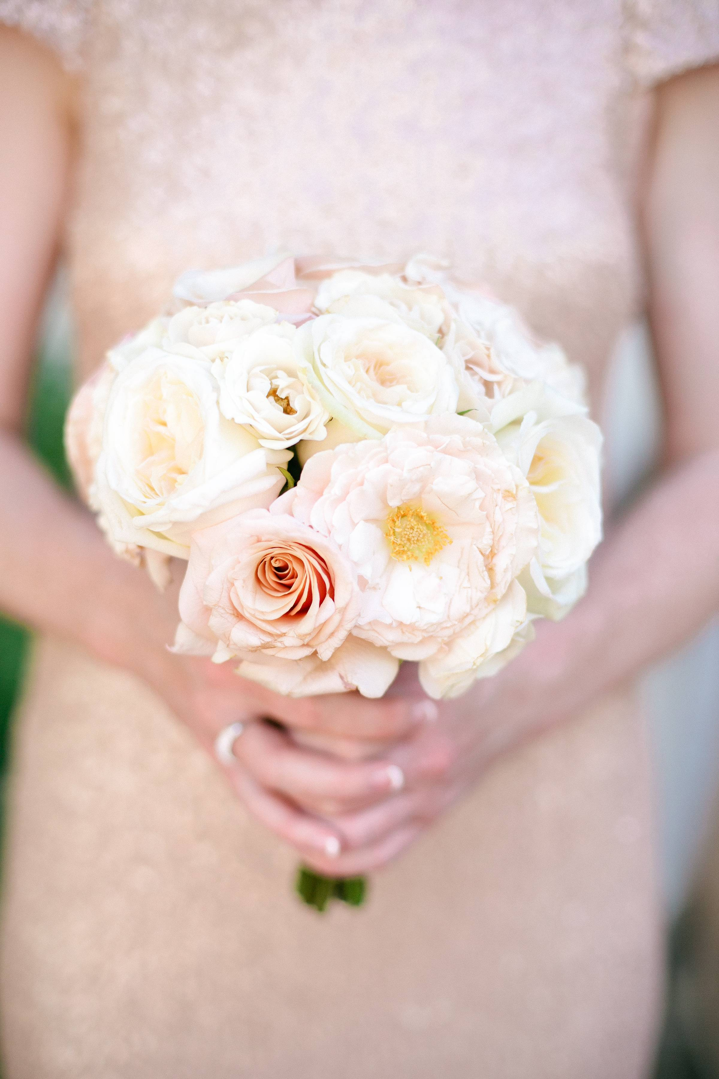 Bridesmaid Bouquet Pink and White