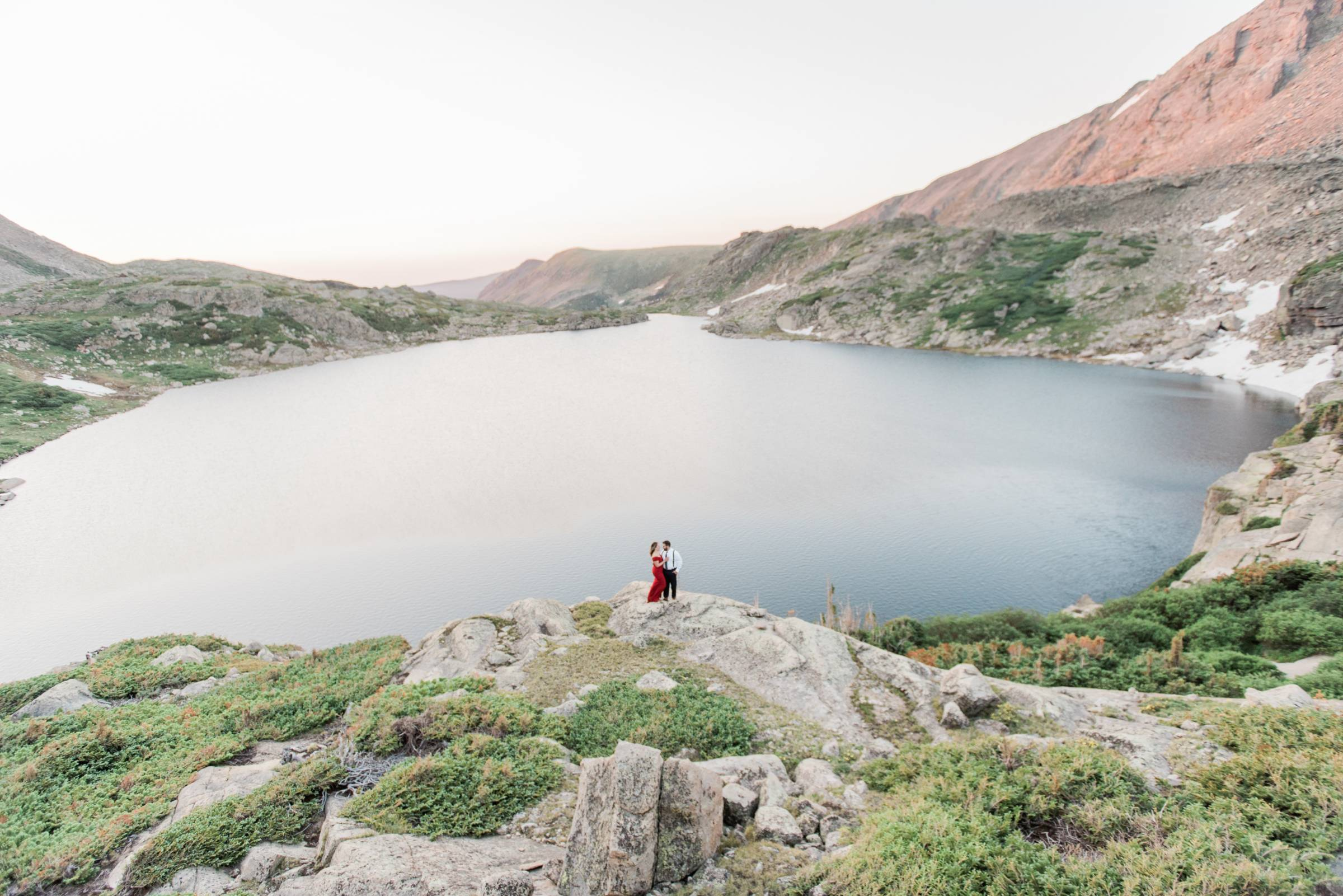 Alpine Lake Mountain Engagement