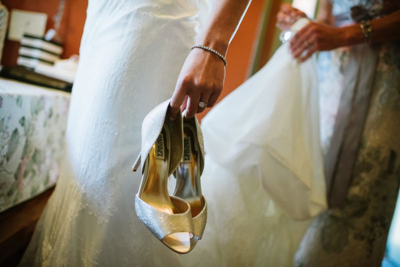Bride and Shoes