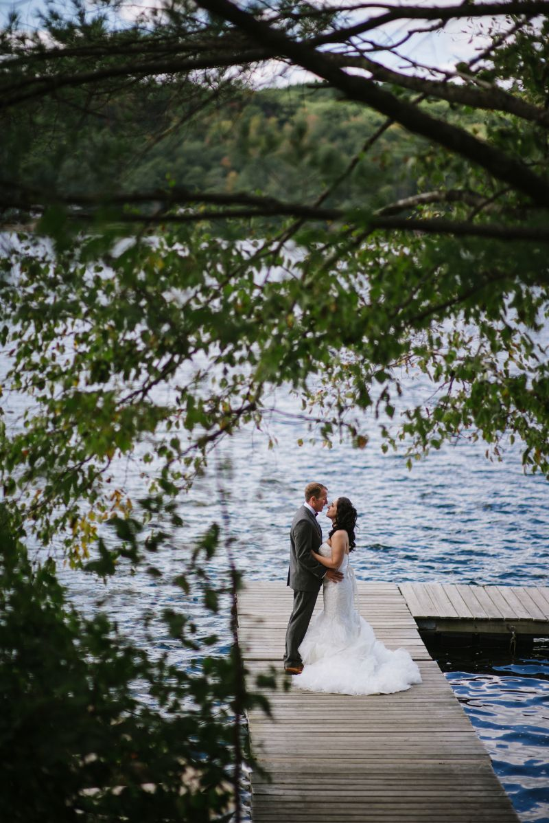 Lakeside Bride and Groom