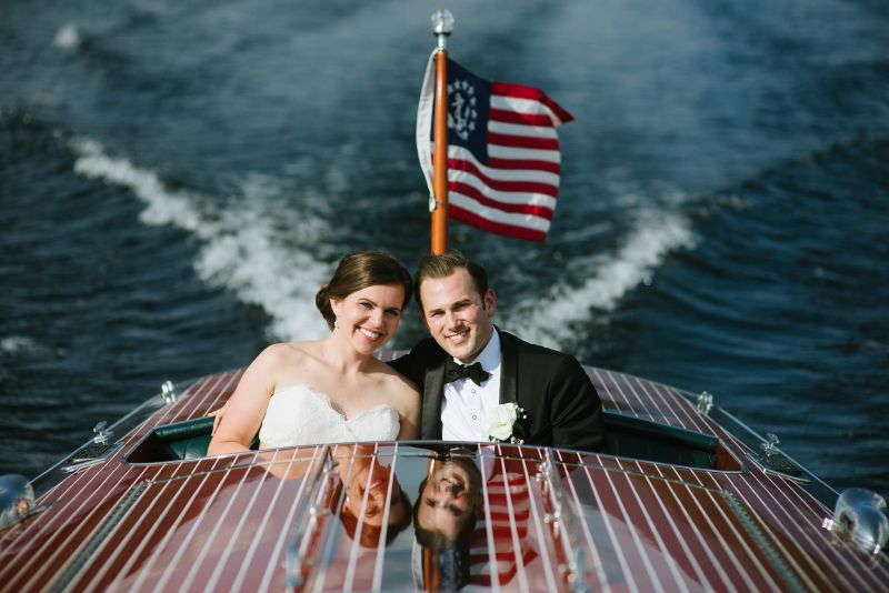 Boating Bride and Groom
